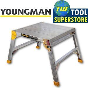 Youngman Odd Job 600 Folding Platform Square Bench Hop Step Up Decorators DIY