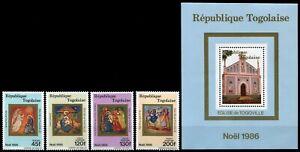 Togo 1986 - Mi-Nr. 1995-1998 & Block 292 ** - MNH - Weihnachten / X-mas