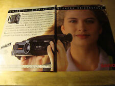 PUBBLICITA' ADVERTISING WERBUNG 1991 SWING UP SANYO VIDEOCAMERA (G12)