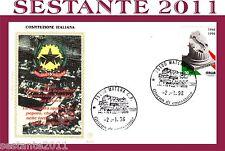 ITALIA FDC FILAGRANO GOLD, COSTITUZIONE ITALIANA 1998, ANNULLO  MATERA, E109