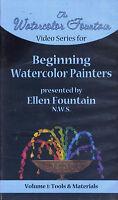 watercolor fountain ellen BEGINNING WATERCOLOR PAINTERS volume 1   VHS VIDEOTAPE