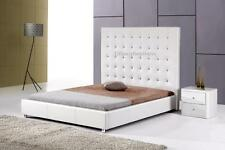 #4006 Gorgeous Modern Cal/Eastern king Size White PU Leather bed