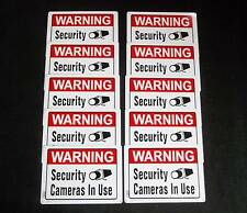 WATER PROOF METAL Security Camera Warning Signs 10 Lot Hillman