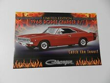 Danbury Mint 1968 DODGE CHARGER R/T Brochure Pamphlet Mailer