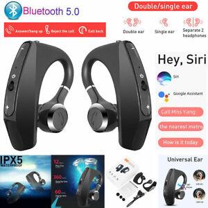 TWS True Wireless Earbuds Bluetooth 5.0 Earphones Stereo Bass Ear Hook Headset