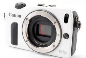 Canon EOS M 18.0MP Mirrorless Digital Camera  Body -white