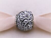 New Authentic PANDORA Enchanted Pave Sterling Silver Charm, Clear  797032CZ