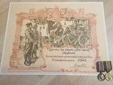 More details for wwi king's certificate of discharge   silver war badge   a4 custom replica