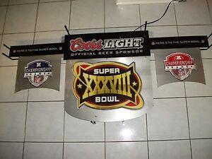 Super-Bowl-Neon-Sign.Coors light Superbowl  XXXVIII