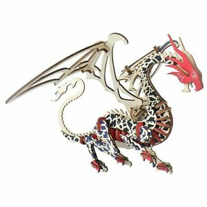 Dragon Wooden Model Kit Winged Laser Cut Puzzle Jigsaw Educational Hobby Craft