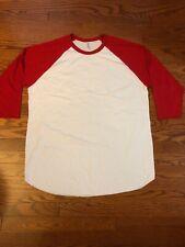 NWOT American Apparel 50/50 3/4 Sleeve Raglan T-shirt - Baseball Unisex Size XL