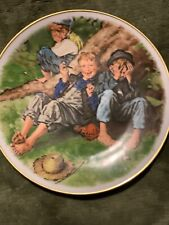 """Norman Rockwell 1977 First Limited Edition Plate """"First-Smoke"""" Dave Grossman"""