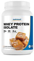 Nutricost Whey Protein Isolate (Salted Caramel) 2LBS - Non GMO, Gluten Free