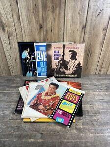 Eleven Vintage Elvis Presley Vinyl Records.
