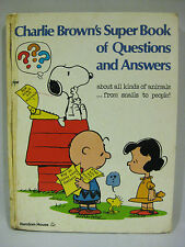 2 VINTAGE EDUCATIONAL PEANUTS BOOKS CHARLIE BROWNS SUPER BOOKS