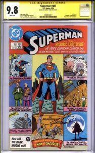 SUPERMAN #423 CGC 9.8 SS GEORGE PEREZ (last issue) Alan Moore Story