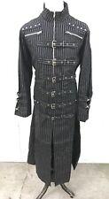 SDL Original Steampunk Gothic Heavy Black Cotton Pinstripe Industrial Jacket