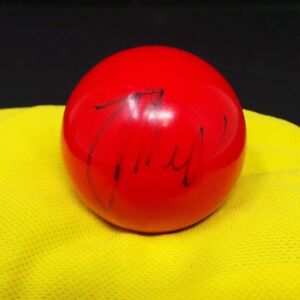 Judd TRUMP Signed Autograph on 3/4 Size Red Colour Snooker Ball AFTAL RD COA