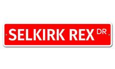 """7384 Ss Selkirk Rex 4"""" x 18"""" Novelty Street Sign Aluminum"""