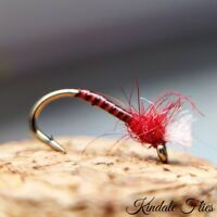 Lightweight Red Quill Buzzers size 12 (Set of 3) Fly Fishing Flies  Bloodworm