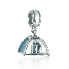 Camping Tent Charm, Silver Jewellery, Outdoor hobby charms for bracelet