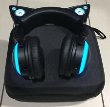 Axent Wear Brookstone LED Light Up Cat Ear Speaker Headphones No Box - Issue