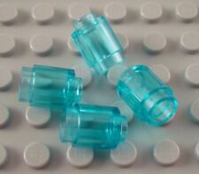 New LEGO Lot of 4 Translucent Light Blue 1x1 Round Brick Pieces