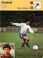 FICHE CARD: Alain Giresse France Milieu de terrain Midfielder  FOOTBALL 1970s