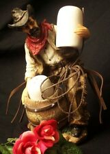 """Rugged Cowboy Colorful Western Style Salt & Pepper 6"""" Shakers Set"""