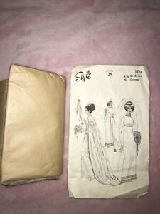 Vintage Sewing Pattern Style Wedding Dress