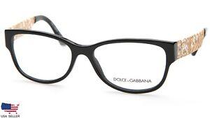 """D&G Dolce & Gabbana DG 3185 501 BLACK EYEGLASSES GLASSES FRAME 55-16-140 """"READ"""""""