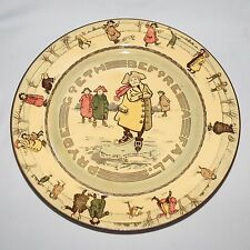 scarce Royal Doulton Skating Pryde Goeth Before a Fall plate D2789