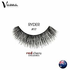 RED CHERRY #117 False Eyelashes Fake Lashes 100% Human Hair Black AUS SELLER