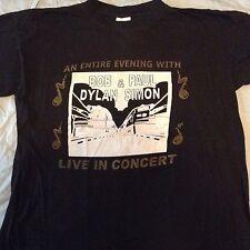 Bob Dylan & Paul Simon T-Shirt Summer 1999 Tour XL NEVER WORN! Black