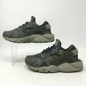 Nike Air Huarache Run Prm Python Sneakers Womens 7.5 Green Lace Up 683818-302