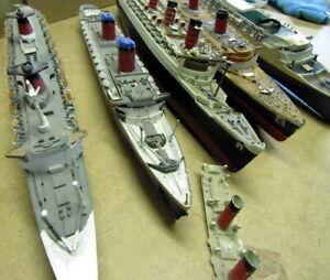 SHIP MODEL KITS JOB LOT: Spare/Repairs PreBuilt/Damaged Queen Elizabeth/Mary