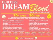 Quilt Batting Quilters Dream Blend Machines Throw Bolt 70/30 Cotton Poly