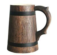 Beer Mug German Mugs Barrel Cup Wooden Natural Oak Wood Brown 23 OZ / 0.7 L Gift