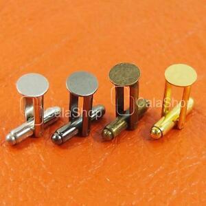 700 pcs Metal Blank Plated CuffLinks Blank Pad Craft findings 9mm