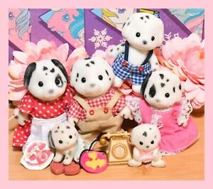❤️Vtg Sylvanian Families Calico Critters Kennelworth Dalmatian Dog Family❤️