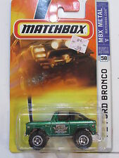MATCHBOX 2007 MBX METAL '72 FORD BRONCO #58 GREEN