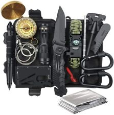 14 in 1 Survival Tool Emergency Tactical Supplies for Hiking Camping Adventures