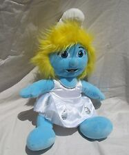 "16"" Smurfs Build-A-Bear Workshop SMURFETTE Blue Stuffed Animal Plush Doll Toy"