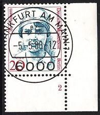 32) Berlin 20 Pf Frauen 811 FN 2 Formnummer Ecke 4 EST FFM mit Gummi RAR!