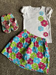 Girls Summer Gymboree 3 Pc. Set Size 8 EUC
