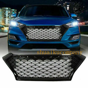 Fits For 2019 2020 HYUNDAI TUCSON Front Bumper Grille Gloss Black Grill