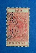 1882 40L NEW ZEALAND STAMP DUTY REVENUE BAREFOOT# 273 USED               CS33273