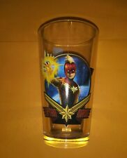 Brand New 16 oz Captain Marvel Pint Glass Marvel Comics Movie Double Sided MCU