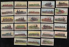 1912 LAMBERT & BUTLER'S WORLD'S LOCOMOTIVES CIGARETTE CARDS - part set 28/50