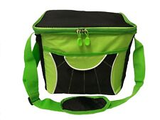 Picnic Bag Cool Bag Lunch Bag Large, 15 Litres, Insulated, Green & Black